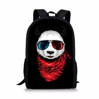 panda Backpack Teens Boys Casual Fashion Rucksack Kids Students School Book Bags