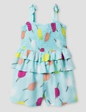 NWT OSHKOSH Girls Size 4T Outfit 1-Pc Romper Blue Ice...