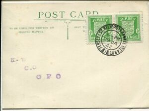 Jersey 2x½d on FDC card 29.1.1942