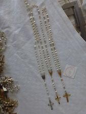 6/ lot de 3 ancien chapelet perle EN NACRE dont  1 en argent old french rosary