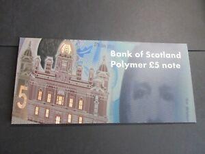 BANK OF SCOTLAND POLYMER £5 -  AA004544, LIMITED FOLDER MINT, UNC