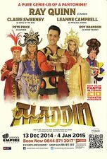 ALADDIN THE MUSICAL EMPIRE THEATRE DEC 2014 - RAY QUINN PROMOTIONAL FLYER!!!