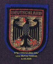 LMH PATCH Woven Badge DEUTSCHLAND Bundesadler GERMANY Federal Eagle COAT ARMS bl
