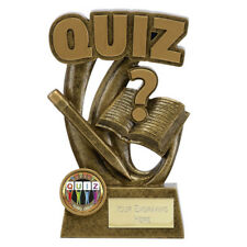 QUIZ TROPHY ENGRAVED FREE QUIZ NIGHT CHARITY FUNDRAISER QUIZMASTER TROPHIES