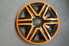 4 Alu-Design Radkappen 14 Zoll ACTION orange/black für Fiat 500