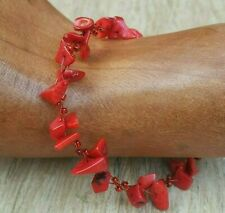 *Freedom Tree* Coral Gemstone Bracelet  Hand Made Chakra /Healing