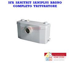 SFA SANITRIT SANIPLUS BAGNO COMPLETO TRITURATORE