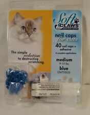 Soft Claws Nail Caps for Cats Kittens Paws Medium Blue
