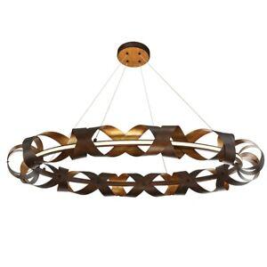 Eurofase Banderia Large LED Chandelier, Bronze/Bronze/Gold - 30079-014