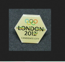 Juegos Olímpicos de Londres 2012 hexagonal Insignia Pin Ciudad de candidatos (totalmente Nuevo Y Sellado)