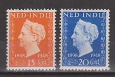 Nederlands Indie 347-348 MNH Jubileumzegels 1948 Netherlands Indies Very Fine