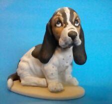 BASSET HOUND Puppy Dog Porcelain Figurine - 1993 HOMCO Masterpiece