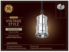 GE Satin Nickel Vintage LED Pendant Light