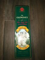 VINTAGE The GLENLIVET THE CASTLE OF SCOTLAN 12 Years Tin Empty Container Metal