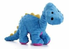 goDog Dinos Bruto With Chew Guard Technology Tough Plush Dog Toy Large Blue