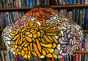 Antique Tiffany Studios Reproduction Chrysanthemum Leaded Glass Shade