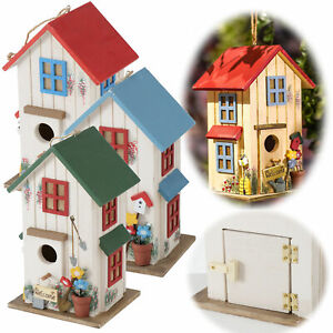 Holz Vogel-Nistkasten 26cm Vogelhaus Nisthöhle Nisthilfe Meisenkasten Häuschen