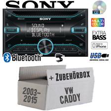 Sony Autoradio für VW Caddy 2K Bluetooth CD USB iPhone Einbauzubehör Einbauset