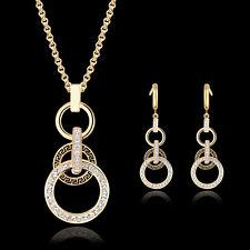 Modeschmuck gold set  Markenlose Modeschmuck-Sets aus Kristall mit Strass | eBay