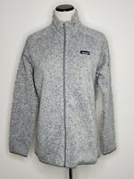 Patagonia Womens Better Sweater Jacket Birch White Grey Full Zip Pockets X Large
