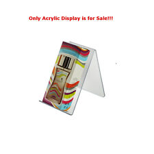 "Case of 10 New Clear Acrylic Easel Display 2.5""W x 5""D x 4.125""H"