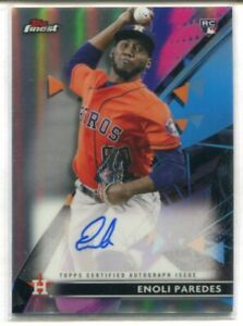 2021 TOPPS FINEST RC ENOLI PAREDES REFRACTOR AUTOGRAPH