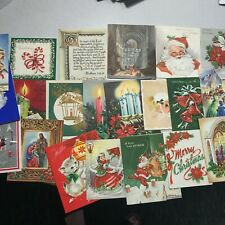 Large Vintage Lot of Christmas Holiday Cards for Scrapbooking or other Craft Re-