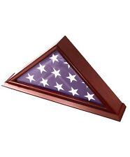 DECOMIL - 5x9 Burial/Funeral/Veteran Flag Elegant Display Case w/ Base Solid