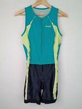 Zoot Women's Medium Zip-Front Triathlon One Piece Blue/Black Cycling Suit 4713