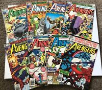 8x 1970's Marvel The Avengers Comic book Lot # 190 191 192 193 194 197  198 199