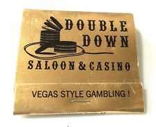 """Double Down Saloon & Casino"" Full Matchbook La Center washington (L)"