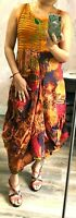Ladies Gypsy Hippie Sleeveless Quirky Parachute Dress UK Size 8 10 12 14