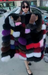 Factory Special Real Thick Fox Fur Long Vest Waistcoat Gilet Luxary Fur Vests
