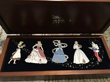 Disney Wedding Cinderella and Prince Charming  wooden box pin 5 pin set