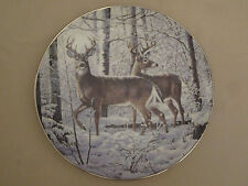 Whitetail Deer collector plate Silent Beauty Persis Clayton Weirs Wildlife