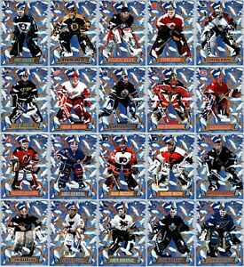 1997-98 CROWN ROYALE FREEZE OUT DIE-CUTS INSERT CARDS - PICK SINGLES FINISH SET