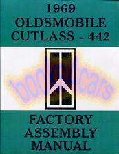 CUTLASS 442 MANUAL 1969 PARTS ASSEMBLY OLDSMOBILE RESTORATION BOOK