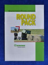 0648) Krone Round Pack 1550 Rundballenpressen - Prospekt Brochure 02.2002