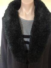 Ladies size L (14) Fluffy Collar Longish Cardigan - Liz Jordan  RRP $149. New
