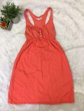 Aeropostale XS Dress Orange Tank Sleevless Cute Cotton Stripe