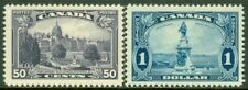 EDW1949SELL : CANADA 1935 Sc #226-27 High values Very Fine, Mint OG VLH. Cat $90