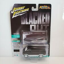 Johnny Lightning Blacked Out 1976 Chevy G20 Van Black White HTF