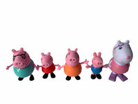 Peppa Pig Figures Set of 5 Toys Peppa George Daddy Mummy Suzy Sheep 3 Poseable