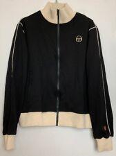 SERGIO TACCHINI STLA Signature Track Jacket Black w/ Off-White Unisex Size L NWT