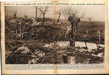 Soldats dragons blessé par feldgrau tranchée à Langemark 1915 WWI ILLUSTRATION