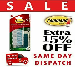 3M Command Outdoor Hooks Decorating Christmas Clear Light Clips Sticky Strips