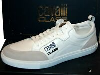 Cavalli Class White Nappa Suede Sneakers Athletic Casual Men's Shoes Sz US12