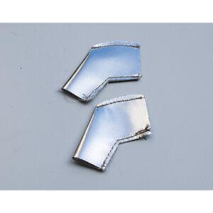 Spark Plug Heatshield Insulation Boot Reflective Silver 45 Degree Pack 2 535⁰C