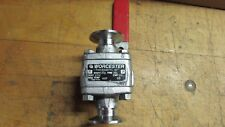 Worcester Triclover Ball Valve- Stainless, BO1, Used