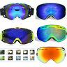 Adults Winter Snow Sports Goggles Ski Snowmobile Snowboard Glasses Eyewear QE